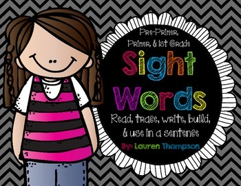 Read, Trace, Write, Build {Sight Words}