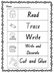 Read, Trace, Write, Decorate, Cut and Glue Worksheets Pre-