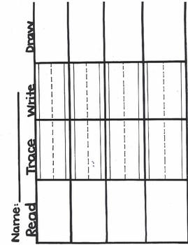 Read, Trace, Write, Draw - Phonograms Writing Practice Blank Form