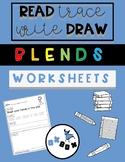 Consonant Blends Worksheet Activity: Read-Trace-Write-Draw Sentences