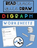 Digraph Worksheet Activity: Read-Trace-Write-Draw Sentences