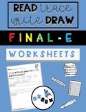 Final -e Worksheet Activity: Read-Trace-Write-Draw Sentences