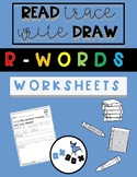 R-controlled Worksheet Activity: Read-Trace-Write-Draw Sentences