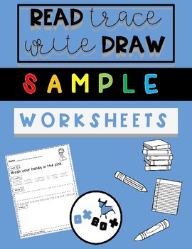 Read-Trace-Write-Draw Sentences: SAMPLER FREEBIE