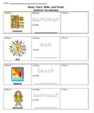 Read, Trace, Write & Draw - Summer Vocabulary