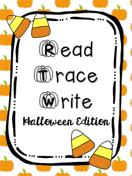 Read Trace Write Halloween Handwriting Practice