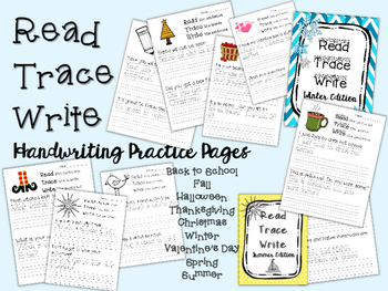 Read Trace Write Handwriting Practice BUNDLE