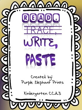Read Trace Write Paste Numbers 1-10 with TEMPLATE