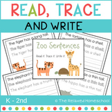 Read - Trace & Write Sentences - ZOO THEME
