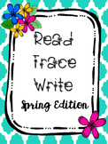 Read Trace Write Spring Handwriting Practice