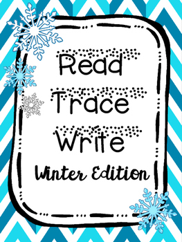 Read Trace Write Winter Handwriting Practice