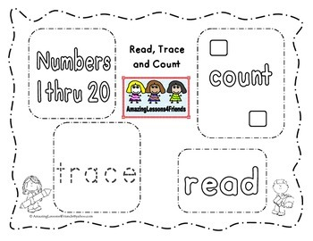 Read, Trace and Count Work Sheets