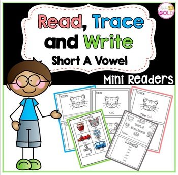 Read, Trace and Write Booklets - CVC Short a Vowel Sounds Readers