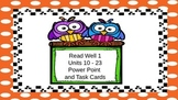 Read Well 1 Task Cards, Units 10 - 23