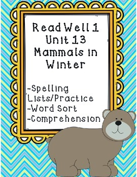 Read Well extra practice Unit 13 Packet