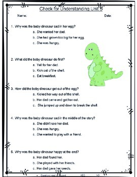 Read Well 1 Unit 5 Activities and Assessment