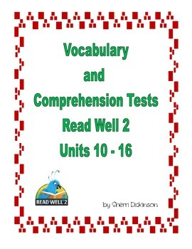 Read Well 2 Vocabulary and Comprehension Tests Part 2