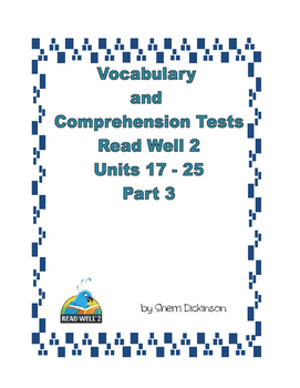 Read Well 2 Vocabulary and Comprehension Tests Part 3