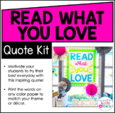 Read What You Love - Quote Kit