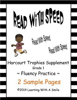 Read With Speed  ~ FREE Sample Pages ~ Fluency Practice ~ Harcourt Trophies