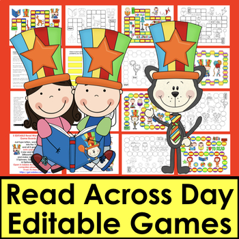 Read WORDS Across America Day Game Boards-First 106 Dolch Words