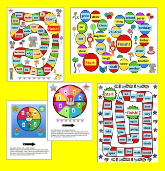 Read WORDS Across America Day Sight Words Game Boards-Last 114 Dolch