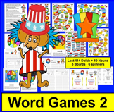 Read WORDS Across America Day Sight Words Game Boards-Last
