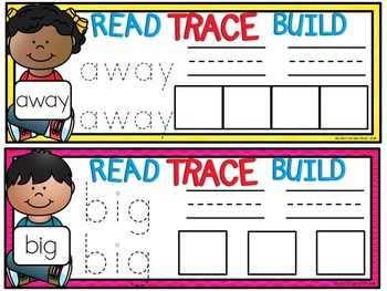 Read, Write, Build Sight Word Mats