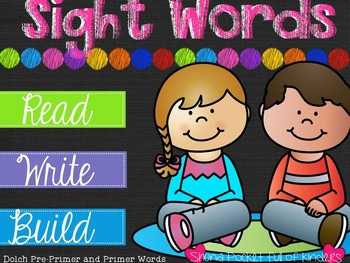 Read, Write, Build Sight Word Mats