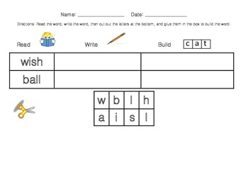 Read-Write-Build Sight Word Work (Second Nine Weeks List)