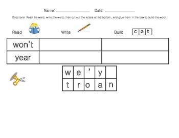 Read-Write-Build Sight Words (Third Nine Weeks)