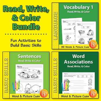 Read, Write, & Color: ELA Skills {Bundle}