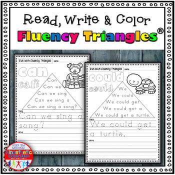 Reading Fluency Activity - Read, Write & Color with Fluenc