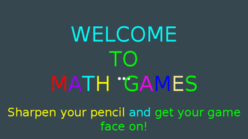 Read, Write, Compare, Round Decimals. Multiply whole numbers. Math Games.