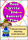 Read, Write, Convert Time Matching Game Cards 1 Minute Intervals  –  5 Sets