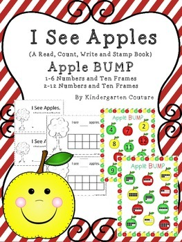 Read, Write, Count and Stamp -Apples and Apple Bump