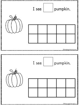 Read, Write, Count and Stamp -Pumpkin Book