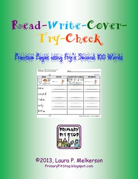 Read-Write-Cover-Try-Check Practice Pages for Fry's SECOND 100 Sight Words