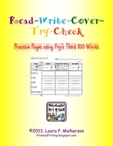 Read-Write-Cover-Try-Check Practice Pages for Fry's THIRD