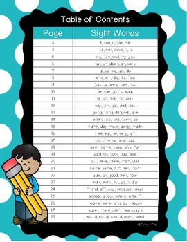 Read Write Create Sight Word Packet