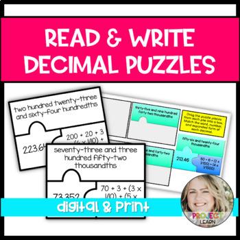 Read & Write Decimal Puzzles