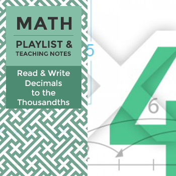 Read & Write Decimals to the Thousandths - Playlist and Teaching Notes