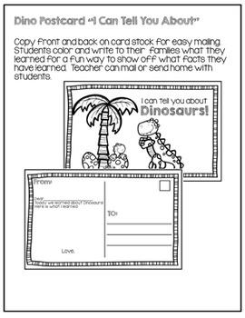 Read & Write Dinosaur  Activity Set