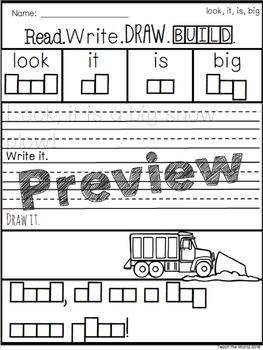 Read, Write, Draw, & Build