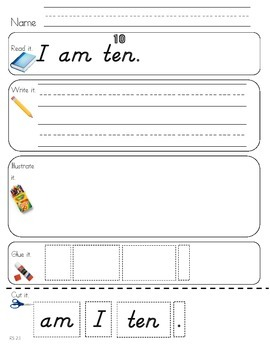 Read Write Draw Cut Theme 2 Literacy Center Activity
