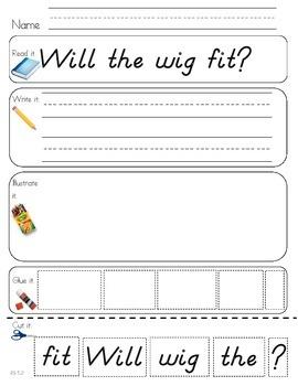 Read Write Draw Cut Theme 5 Literacy Center Activity
