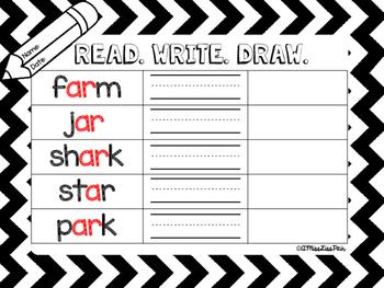 {Read. Write. Draw.} / r-controlled vowel edition /
