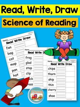 Read Write Draw Short & Long Vowels~Print & Go