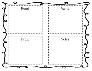 Read-Write-Draw-Solve Work Mat