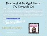 *FREEBIE* Read & Write Fry Words 51-100